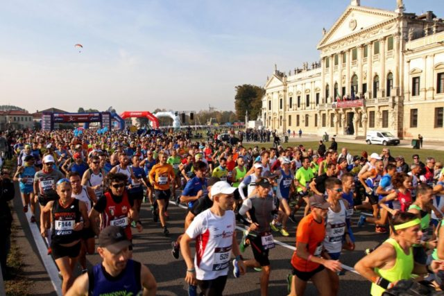 Partenza Venice Marathon - Villa Pisani
