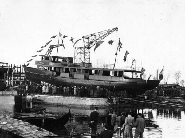 13 aprile 1935 - MN Concordia, il varo - ©Foto Archivio ACTV