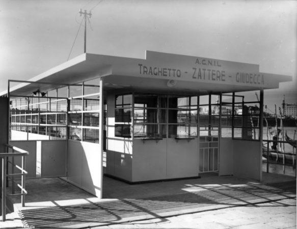 11 ottobre 1953 - Zattere, nuovo pontile - ©Foto Archivio ACTV