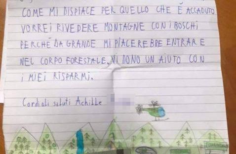 Il bambino che dona 5 euro alla sua montagna. La solidarietà di un piccolo uomo