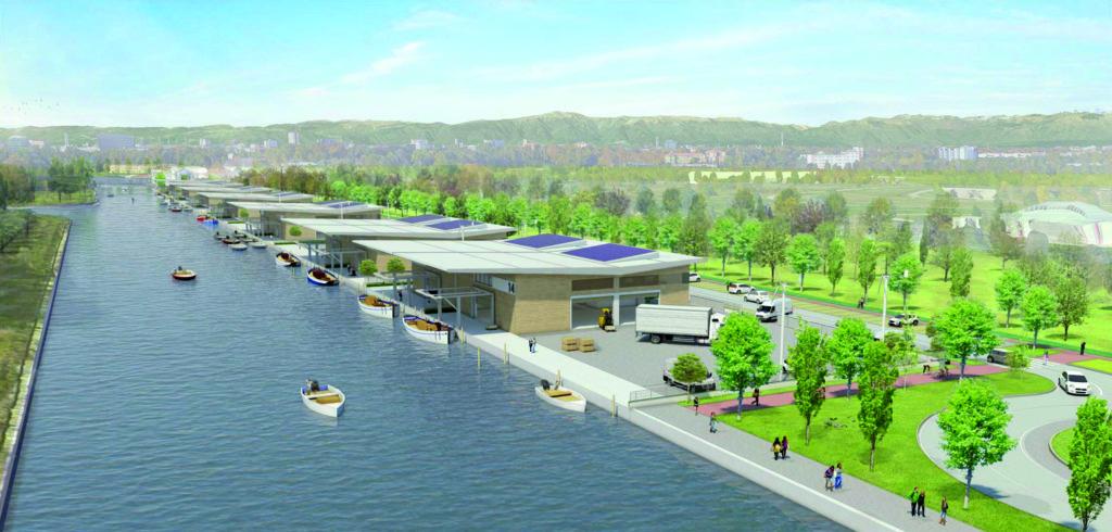Rendering del progetto riqualificazione rive