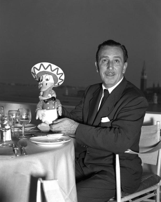 Walt Disney sulla terrazza del Danieli -  Venezia 1951 - PH© Vittorio Pavan Archivio Cameraphoto