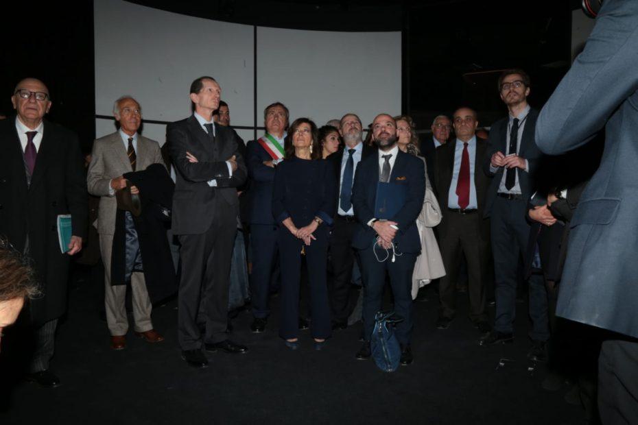 Autorità in visita all'apertura del Museo M9