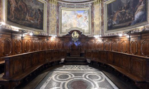 Restaurato il Coro Ligneo della Basilica di San Marco al Campidoglio a Roma