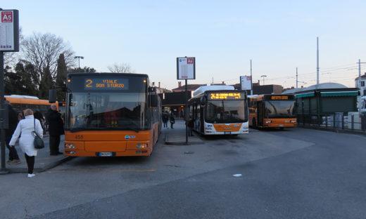 Actv: intensificate le corse di alcuni autobus a Mestre
