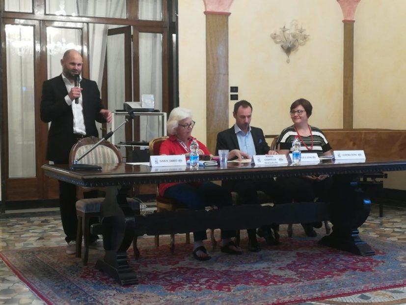 I relatori dell'evento di commemorazione di Romano Doni