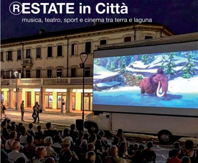 cinema all'aperto via Piave Mestre