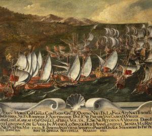 Pittore veneto, Francesco Morosini combatte i Turchi 1660-1730 Venezia, Museo Correr - PH© Matteo De Fina