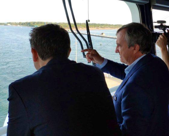 Il Sindaco Brugnaro sulla Nave da Crociera in rotta per Porto Marghera