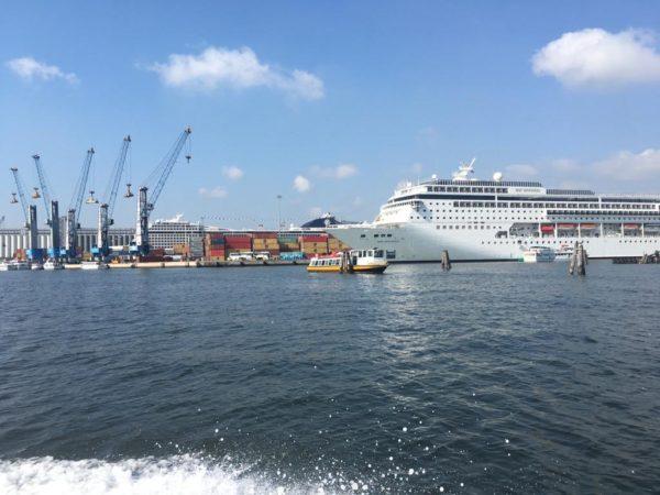 Le Grandi Navi ormeggiate a Porto Marghera, 20 luglio 2019