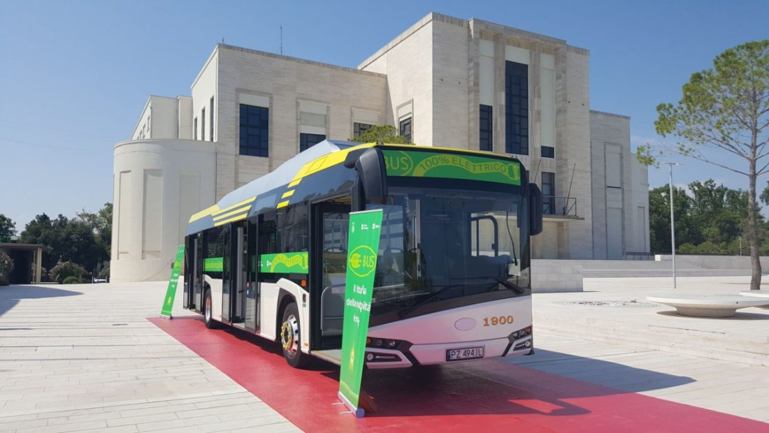 autobus elettrico al Lido