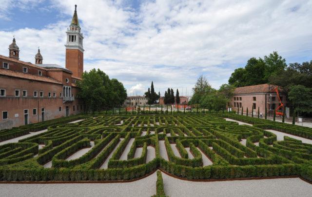 Venezia, Labirinto Borges nell'isola di San Giorgio Maggiore alla Fondazione Cini @Vision