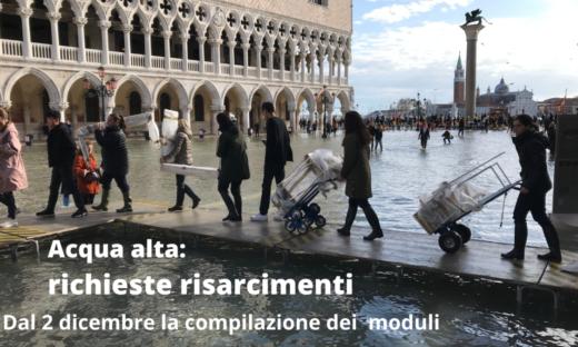 Risarcimenti per i danni da acqua alta: da lunedì al via le domande