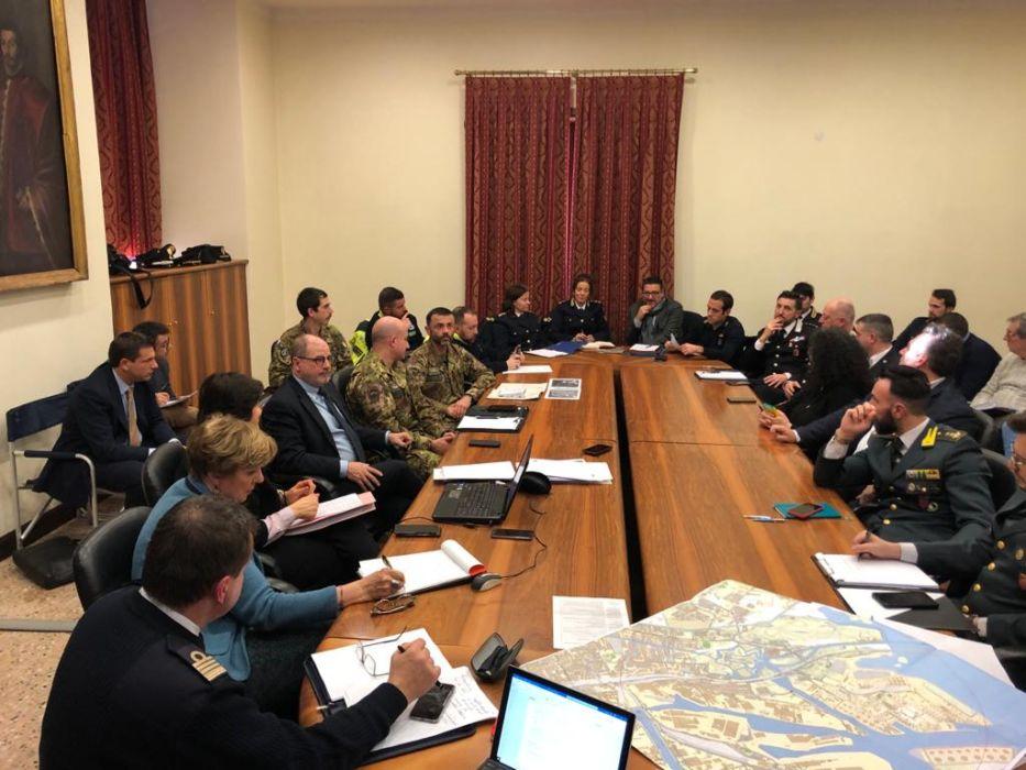 Il tavolo di coordinamento che si è svolto in Prefettura
