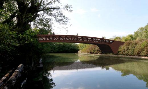 Con il ponte, un nuovo baricentro tra terra e acqua a Forte Marghera