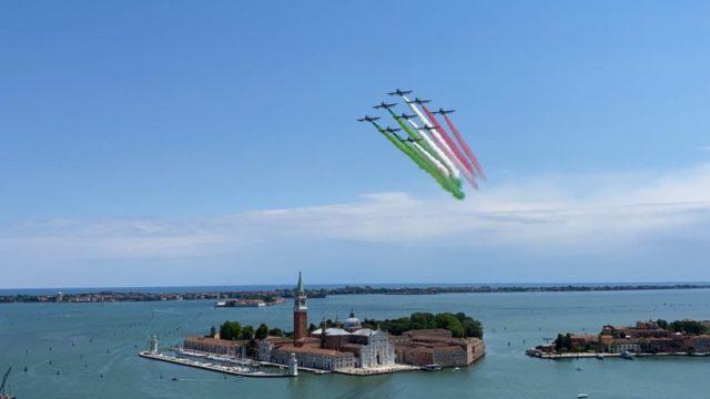 Frecce tricolori a Venezia