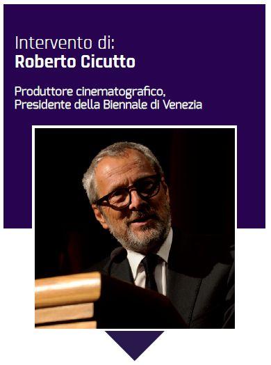 Il presidente della Biennale di Venezia Roberto Ciccuto
