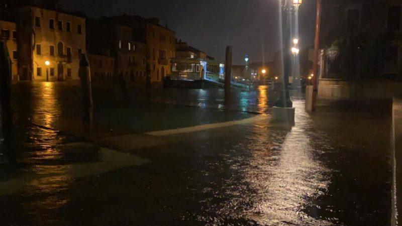 Venezia, acqua alta 4 giugno 2020