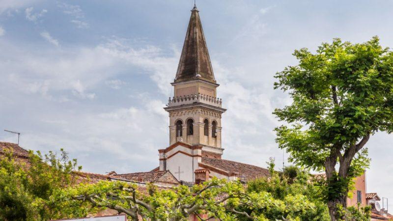 La chiesa del borgo di Malamocco, al Lido di Venezia