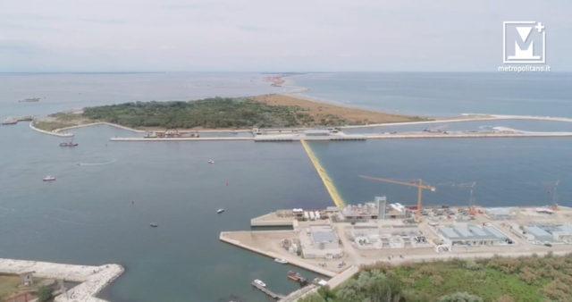 Mose, Bocca di Porto di Malamocco