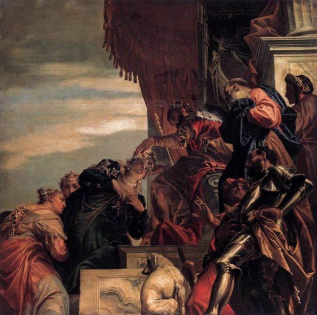 Ester incoronata da Assuero, Veronese