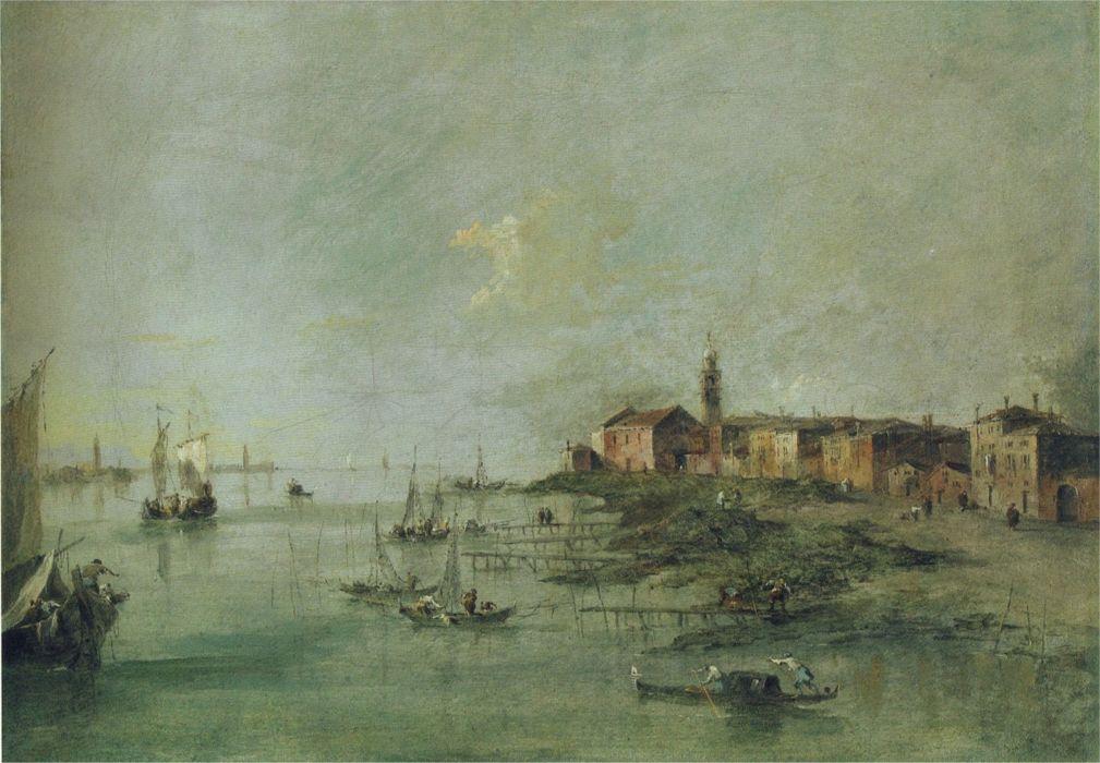 """Francesco Guardi, """"La spiaggia"""""""