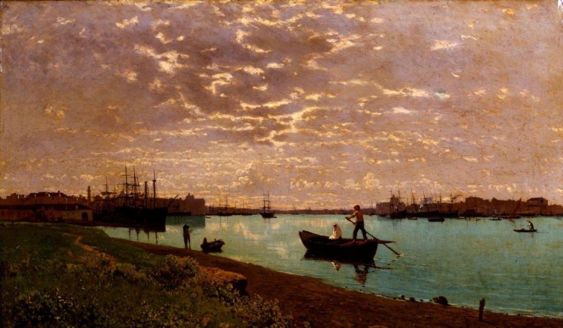 """Guglielmo Ciardi, """"Il Canale della Giudecca"""""""