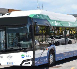 Autobus elettrico al Lido di Venezia