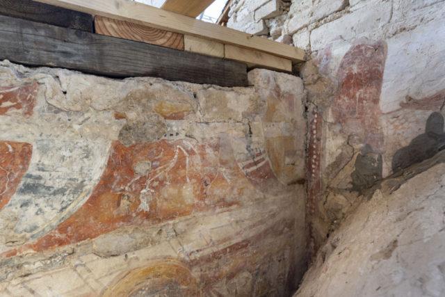 Alcuni affreschi scoperti durante il restauro della Basilica di Torcello