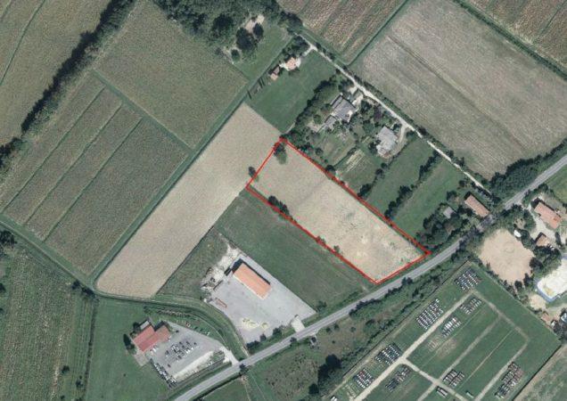 L'area in cui sorgerà l'Ospitale Arca Fenice, tra Campalto e Tessera