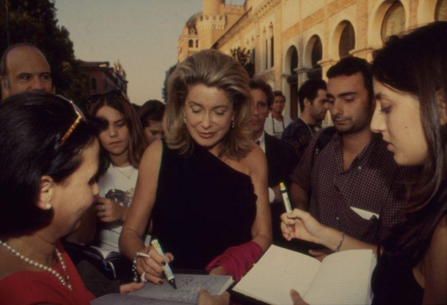 Catherine Deneuve interprete LE VENT DE LA NUIT - Foto Asac - 1999