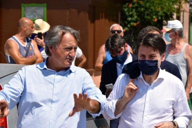 Conte e Brugnaro in visita a Pellestrina