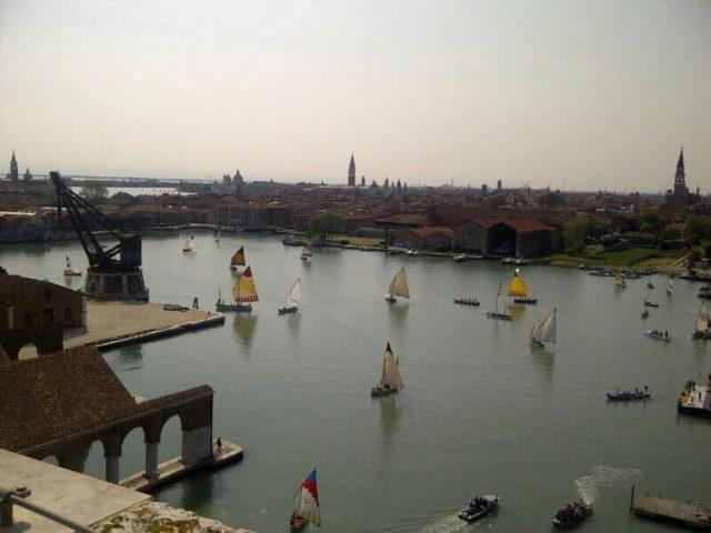 Barche in bacino dell'Arsenale