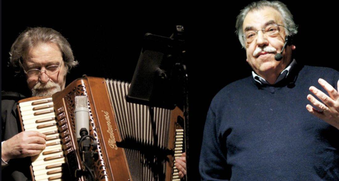 Da sx: il musicista Gualtiero Bertelli e il giornalista Edoardo Pittalis