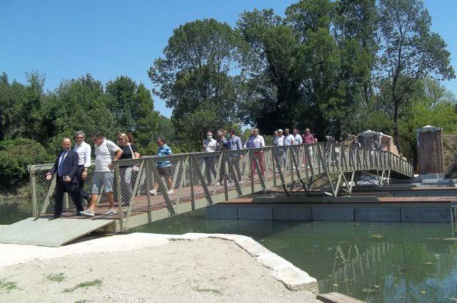 Primo attraversamento ufficiale del quarto ponte di Forte Marghera