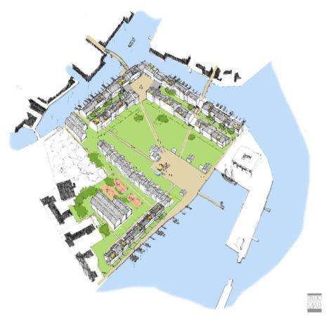 Il progetto del nuovo quartiere nell'area di Sant'Elena nord