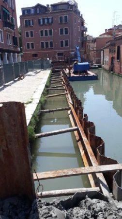 L'intervento di sistemazione di rive e rii a Dorsoduro