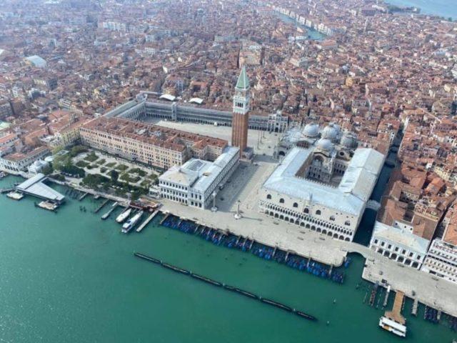 Venezia, veduta di Piazza San Marco dall'alto