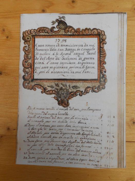 Copia del Serenissimo divieto di bestemmia che si trova nella bottega di scaleter in Campiello dei Meloni