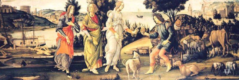 Il Giudizio di Paride di Botticelli