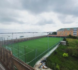Il campo da calcio a Sant'Alvise