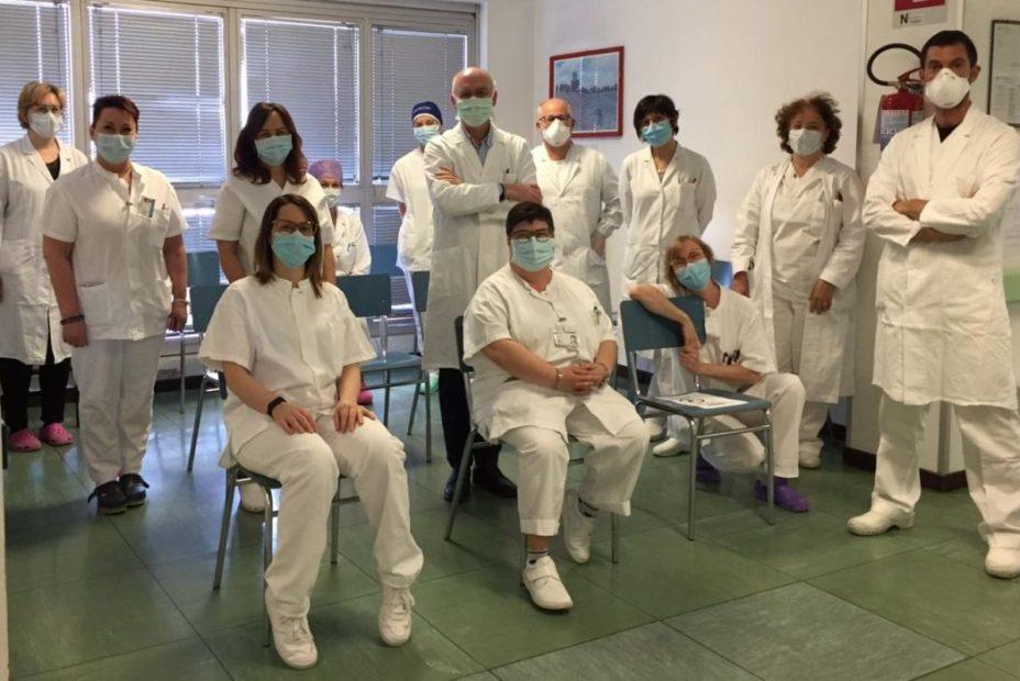 L equipe del reparto di Oculistica di Dolo