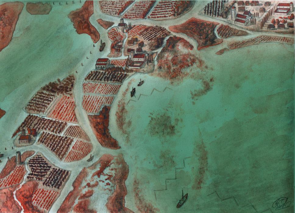 L'isola scomparsa di Costanziaco, Laguna sud, Venezia