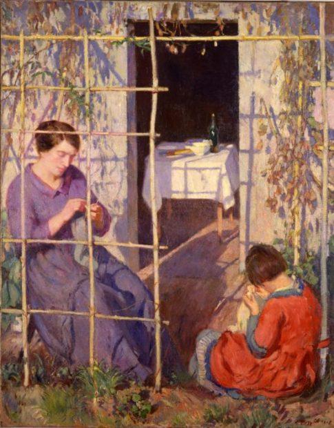 Umberto Moggioli La casa dell'artista, 1912 Olio su tela 145 x 120 cm