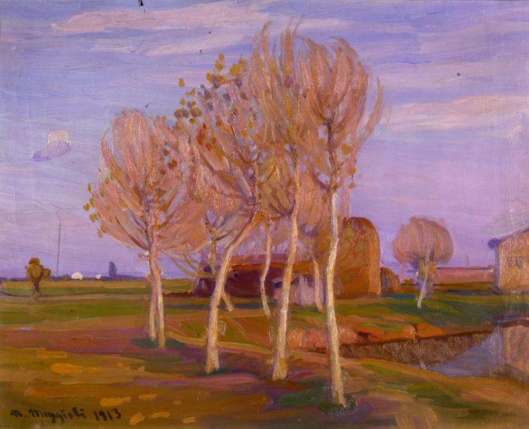 Umberto Moggioli Autunno a Treporti, 1912 Olio su tela 54 x 68,3 cm