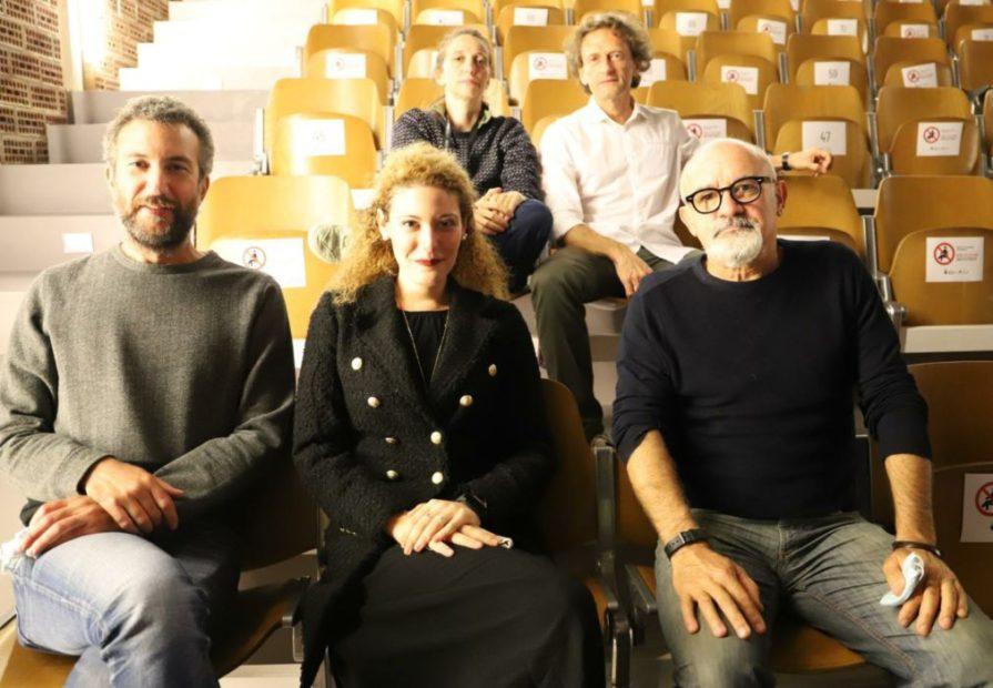 La giuria. In alto, da sinistra: Beatrice Goldoni, Giovanni Boscariol. In basso, da sinistra: Matteo Marcon, Elisa Bologna, Marco Castelli