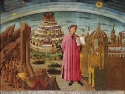 L'universo di Dante Alighieri, affresco di Domenico di Michelino nella Cattedrale di Santa Maria del Fiore, Firenze