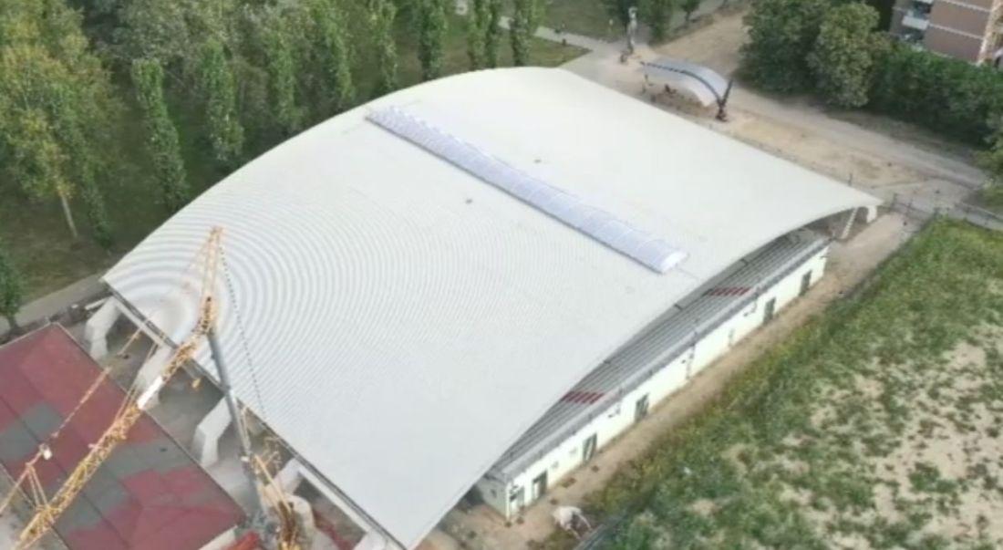 Parco Bissuola: completata la copertura della pista di pattinaggio