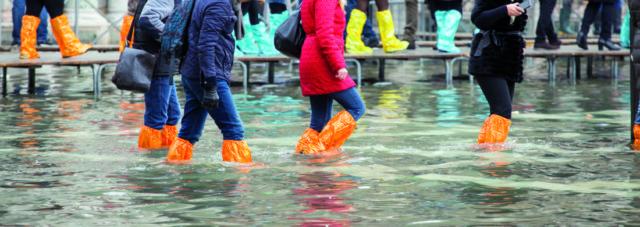 Acqua alta a Venezia Mose