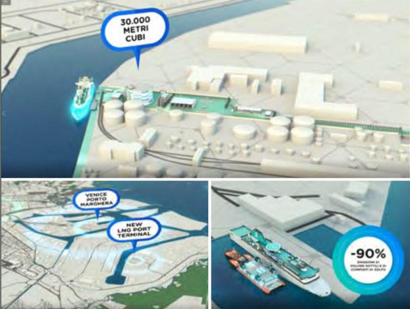 Hub LNG - terminal di stoccaggio e bettolina dual fuel